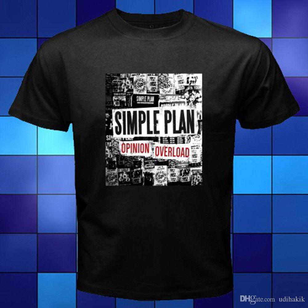 944b0b12 Fashion Funny Tops Tees New Simple Plan Opinion Overload Rock Band Logo  Black T Shirt Size S To 3XL Print Summer Tops Tees Best Sites For T Shirts  Tee Shirt ...