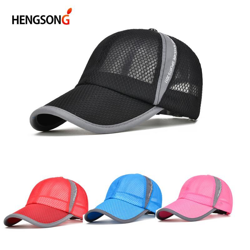 Hot Sale Unisex Summer Breathable Golf Cap Hat For Women Men Mesh ... 7b65e861a8a