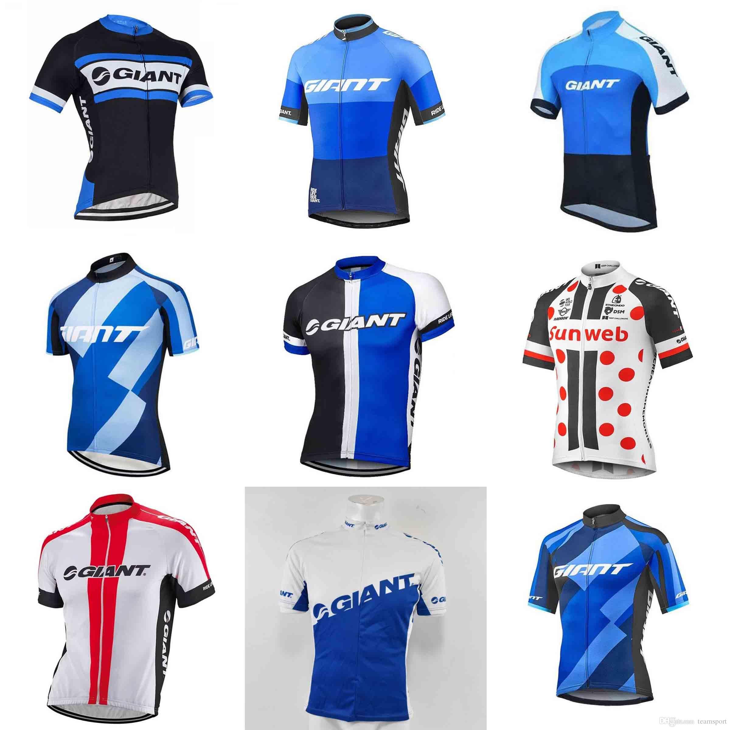 c334f9fb9 GIANT Team Cycling Jersey 2018 T Shirt Cycling Bike Jersey Maillot Ciclismo  Breathable Quick Dry Bike Clothes Cycling 840205 Cycling Gloves Womens  Shirts ...