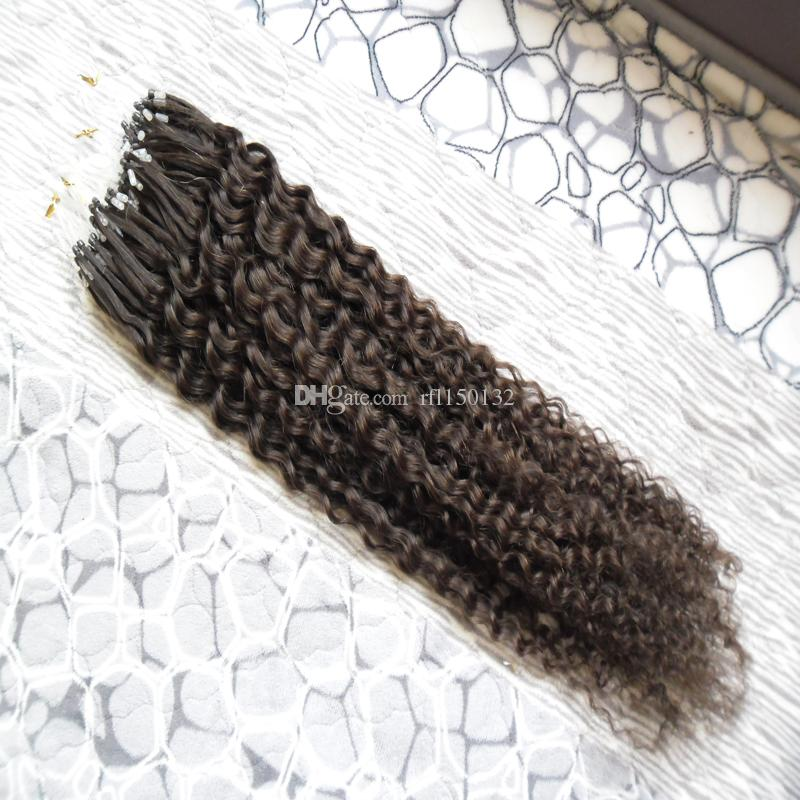 8a Afro Kinky Curly Micro Bead Hair Extensions Micro Link Hair