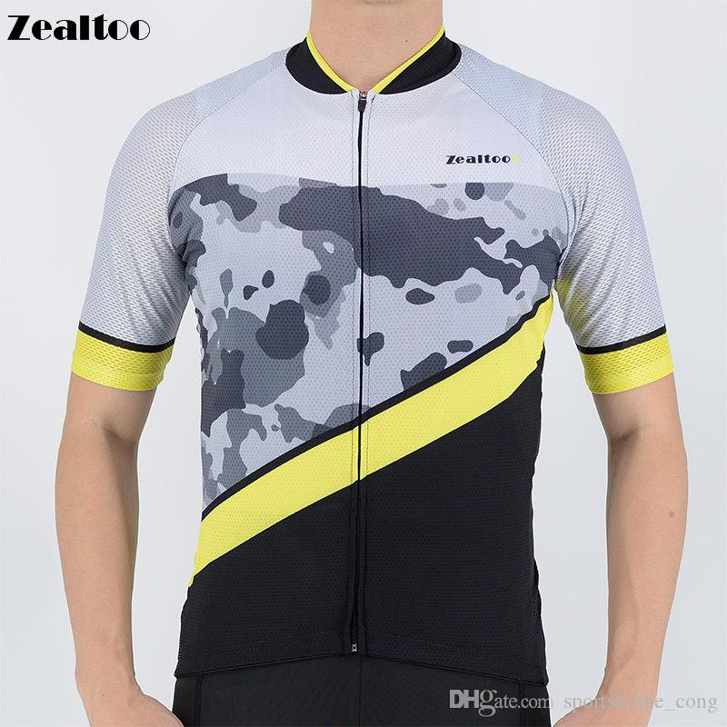 22e2c9967 Zealtoo 2018 Men s Cycling Jersey Breathable Summer Team Bicycle ...