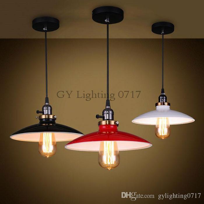 Pour Edison Bouton Blanc Industrail Jour Interrupteur 240v Ac100 Lampe Noir Suspensions Suspension Abat Suspendue Luminaires Rouge 5ALjR43