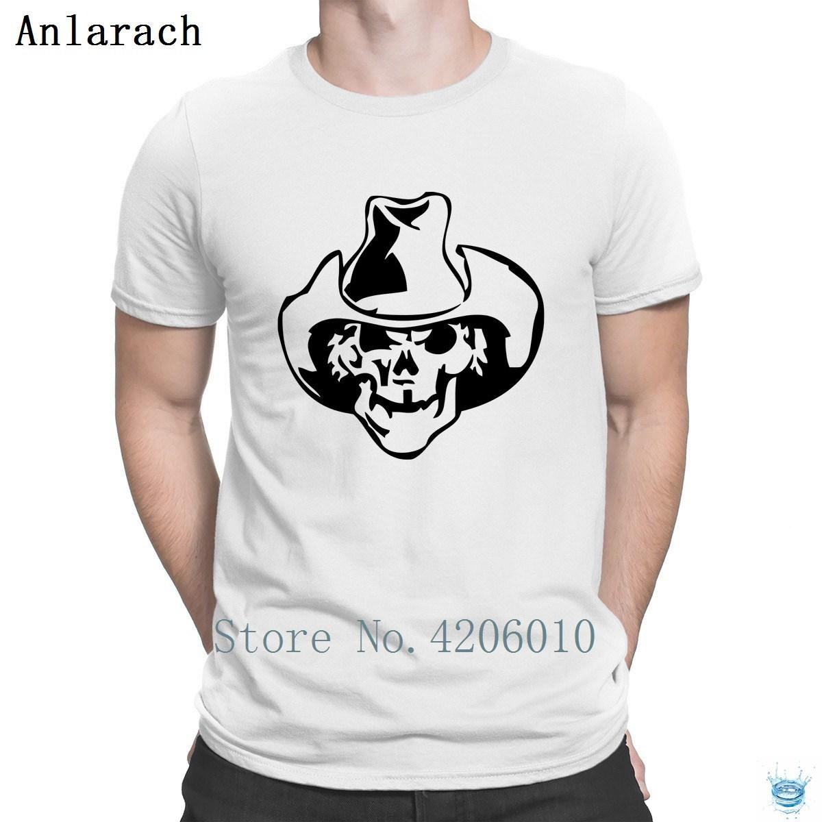 Skull Cowboy Hat T-Shirts Character Euro Size Tee Tops Classic T Shirt For  Men High Quality Leisure Hilarious Tee Shirt 2018