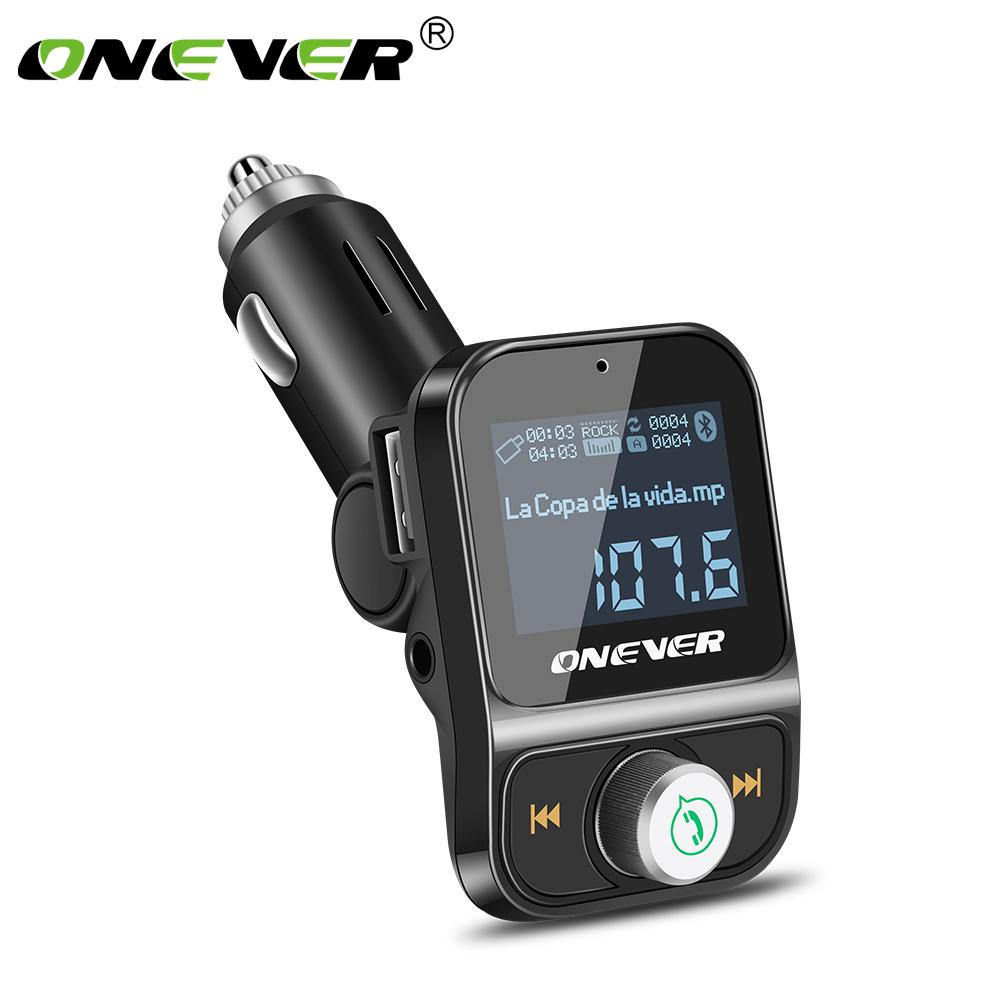 Making Fm Transmitter 04 W Onever Wireless Bluetooth Modulator Handsfree Car Kit Lcd Radio Audio Mp3 Player 35mm Aux Adatper Flac High Quality