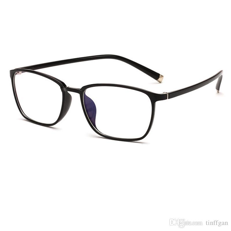 23df19e76 Compre 2018 New Tr90 Armações De Óculos Homens Mulheres Quadrado Simples  Espelho Simples Óculos De Armação De Óculos Para Miopia Óculos Com  Revestimento ...