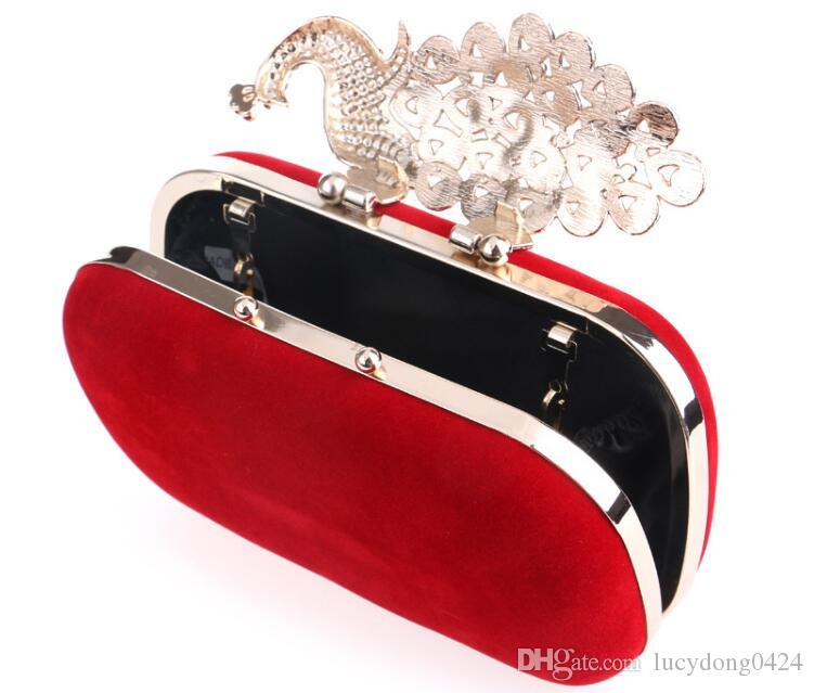Fashion Europe and the United States Peacock Diamond Dinner Bag es para mujer Banquet Dress Clutch