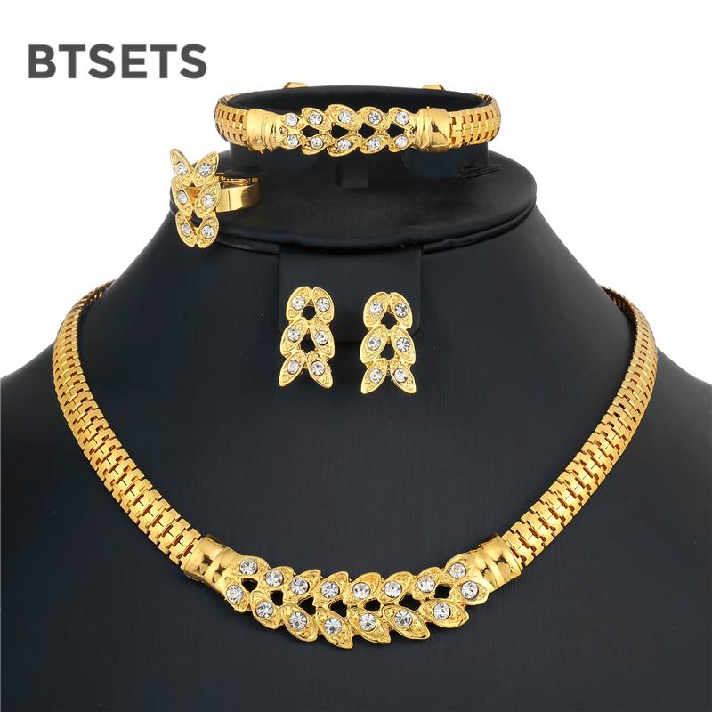 2019 BTSETS Bridal Dubai Jewelry Sets For Women Gold Color African Beads Jewelry  Set Wedding Imitation Crystal Choker Necklace Set From Watcheshomie af599f1008b7