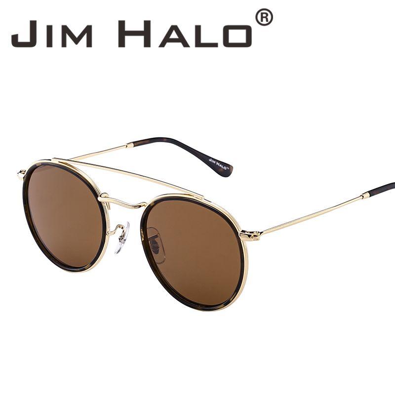 990f9fc212c Jim Halo Retro Steampunk Polarized Sunglasses Women Men Metal Frame  Mirrored Oval Round Circle Lens Oculos De Sol Gafas Vintage Sun Glasses  Sunglasses Sale ...