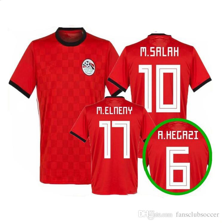 best loved 70958 ad60a 2018 2019 Egypt soccer jersey M. SALAH world cup Home Red 18 19 KAHRABA A.  HEGAZI RAMADAN national team uniforms jerseys footbal shirts