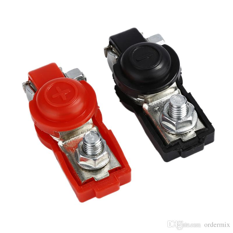 Battery terminal connector Clamp Clips Negative Positive for Auto Car Truck Caravan Boat Motorhom Red Black 6V 12V