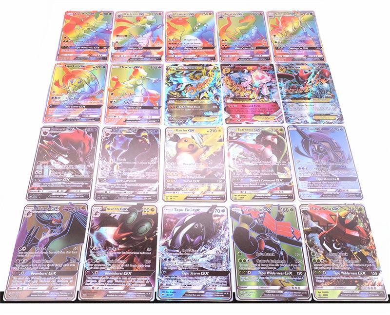 GX Mega Shine Engels 100 Stuks 60GX 40 MEGA Baby Maanlicht GX Flash Card 20/60/100 Elf Battle Card