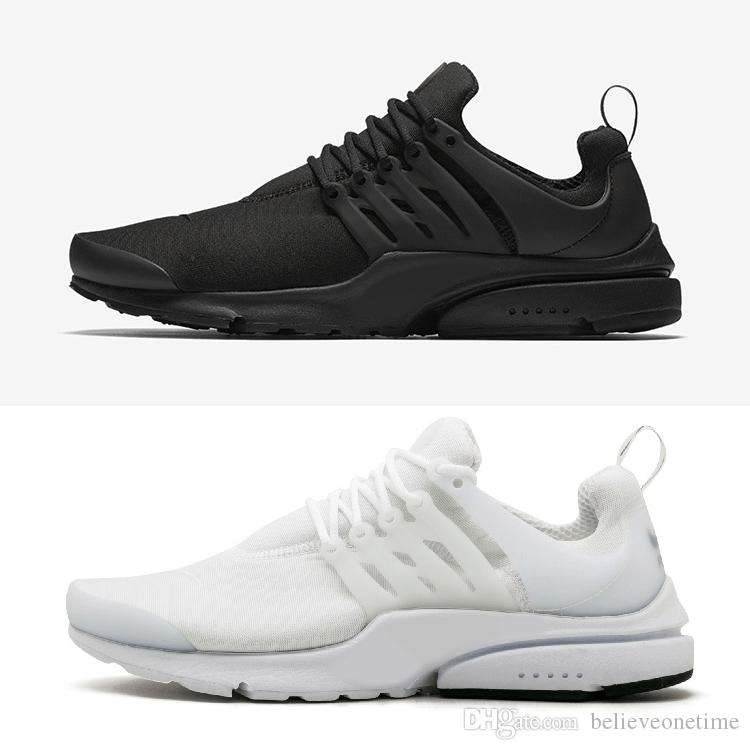 08251b48252b1 Presto BR QS Running Shoes Womens Mens Essential 2018 Triple White Black  Breathe Prestos Trainers Trainning Walking Sneakers Size 36 46 Mens Sale  Cheap ...