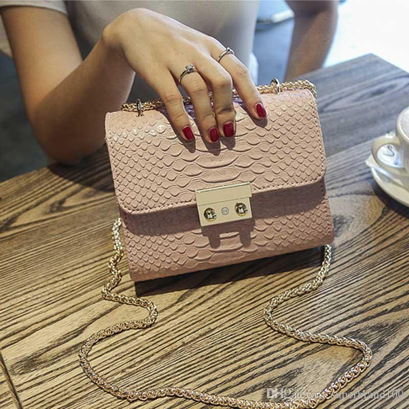 Mini kleine Frauen Crossbody Bag Fashion Chain Damen Handtasche Messenger Schultertasche mit rosa schwarz blau grau