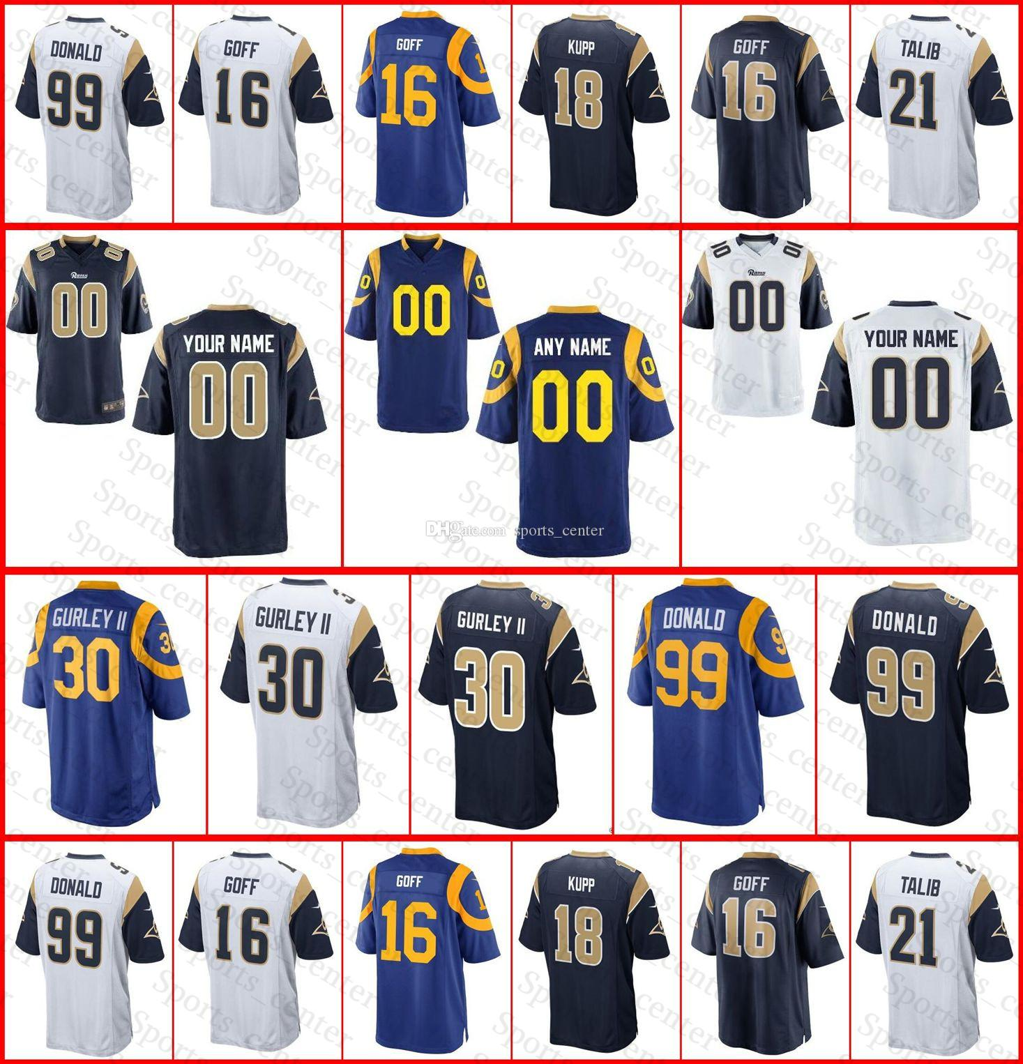 ... nike nfl los angeles rams top selling 874cc e1894  greece mens women  youth custom los angeles rams jersey 30 todd gurley ii 16 jared goff aaf31d333