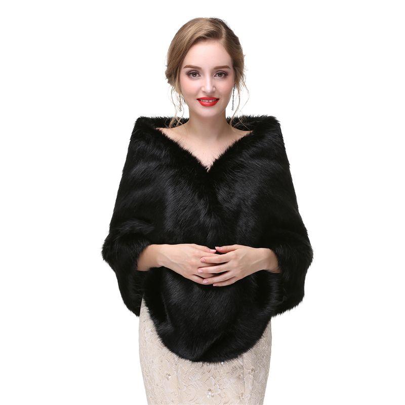CMS03 black Wedding stole fur, faux fur wrap,Black Bridal Wraps shrugs boleros wraps Evening Scarves Shawls