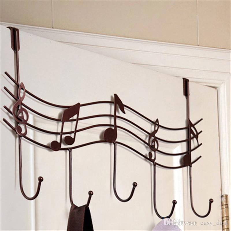 Home Bathroom Kitchen Coat/Hat/Bag Metal Music Style Hook Hanger Organizer Iron Hook rails LZ1052