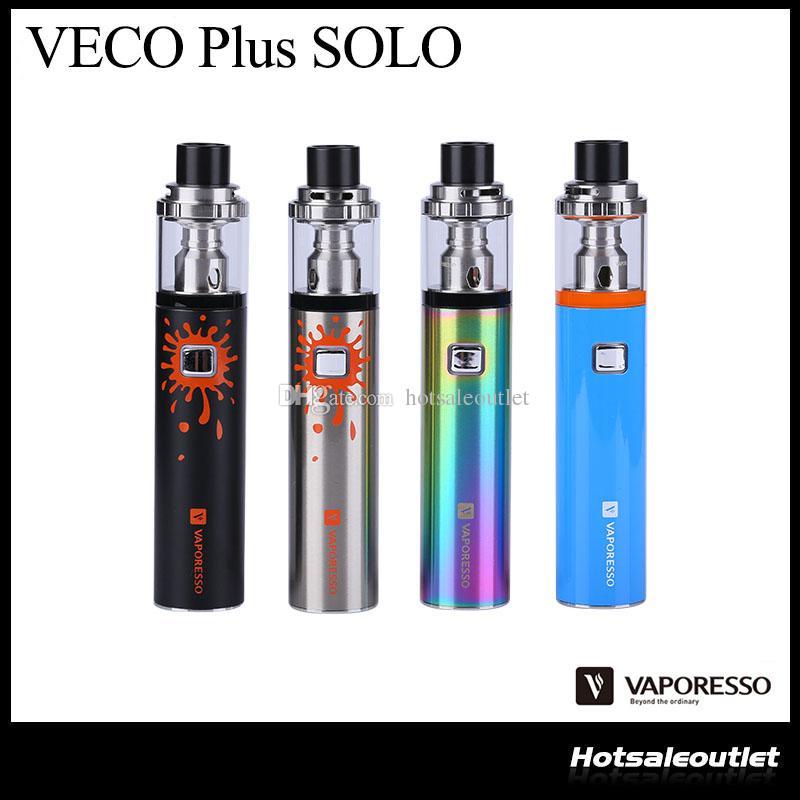 Подлинный Vaporesso VECO PLUS SOLO Starter Kit W / 4 мл бак встроенный аккумулятор 3300mAh оригинальный стиль пера Vape Starter Kit