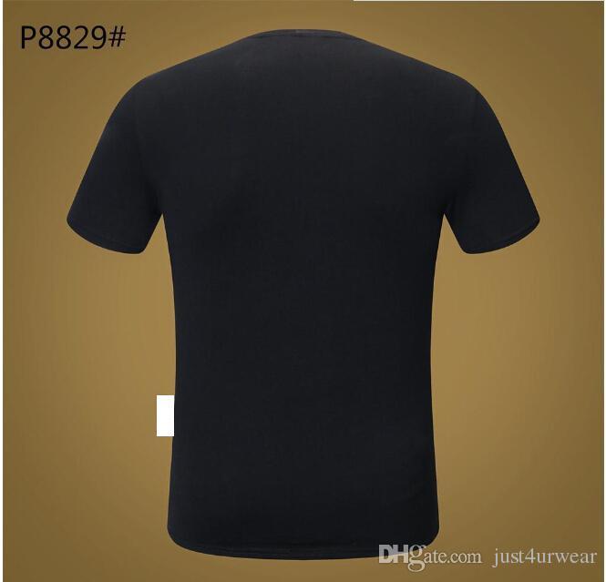 Mens Lüks Marka Para Mektup Baskı T-Shirt PP Kısa Kollu Tshirt Tasarımcı Ördek Tees Erkekler Moda Gevşek Streetwear Tees Tops