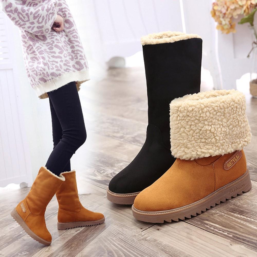 b06d6984c67c Women Winter Warm Short Boots Cotton Shoes Boots Martin Snow Short ...