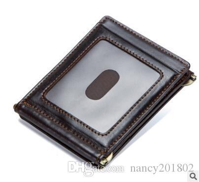 283b3373973bb Großhandel Luxusmarke Brieftasche Männer Reißverschluss Design 2018 Herren  Echtleder Vallet Mini Geldbörse Crazy Horse Männlich Brieftasche Von  Nancy201802