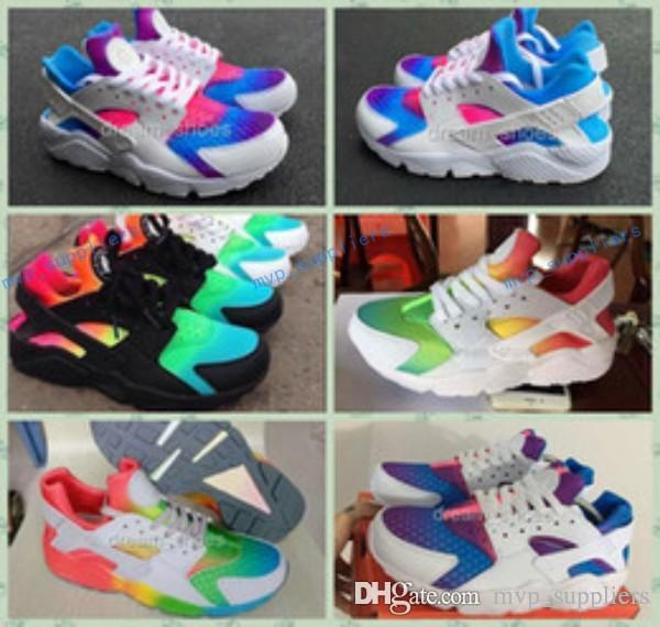 7c59b5096fdc Huaraches Sky Blue Rainbow Red White Inkjet CUSTOM CAMO Runing Shoes For  Men Women Fashion Air Huarache Breathable Sneakers Eur 36 45 Free Shoes  Discount ...