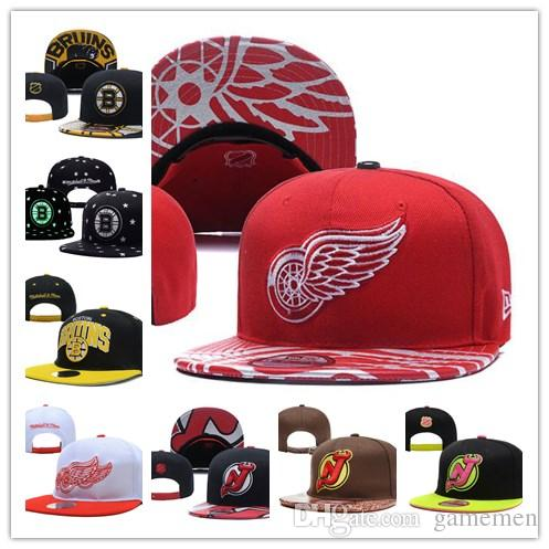 6f184f2e2b7 Hat DETROID RED WINGS Ice Hockey Knit Beanies Embroidery Adjustable ...