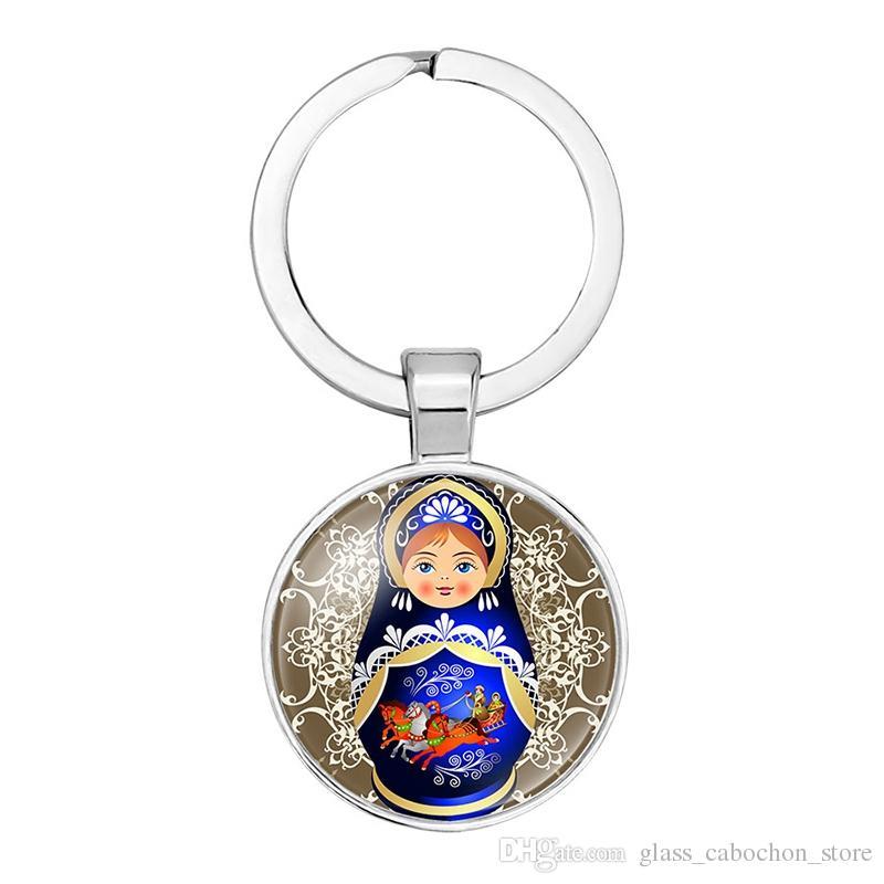 Großhandel Tradition Russische Puppe Bild Glas Cabochon ...