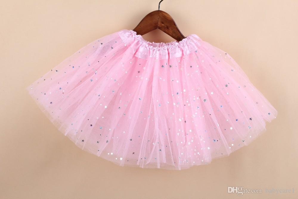 2 طن الاطفال فتاة ستار بريق الرقص توتو تنورة الترتر مع 3 طبقات تول توتو طفل فتاة الشيفون pettiskrit