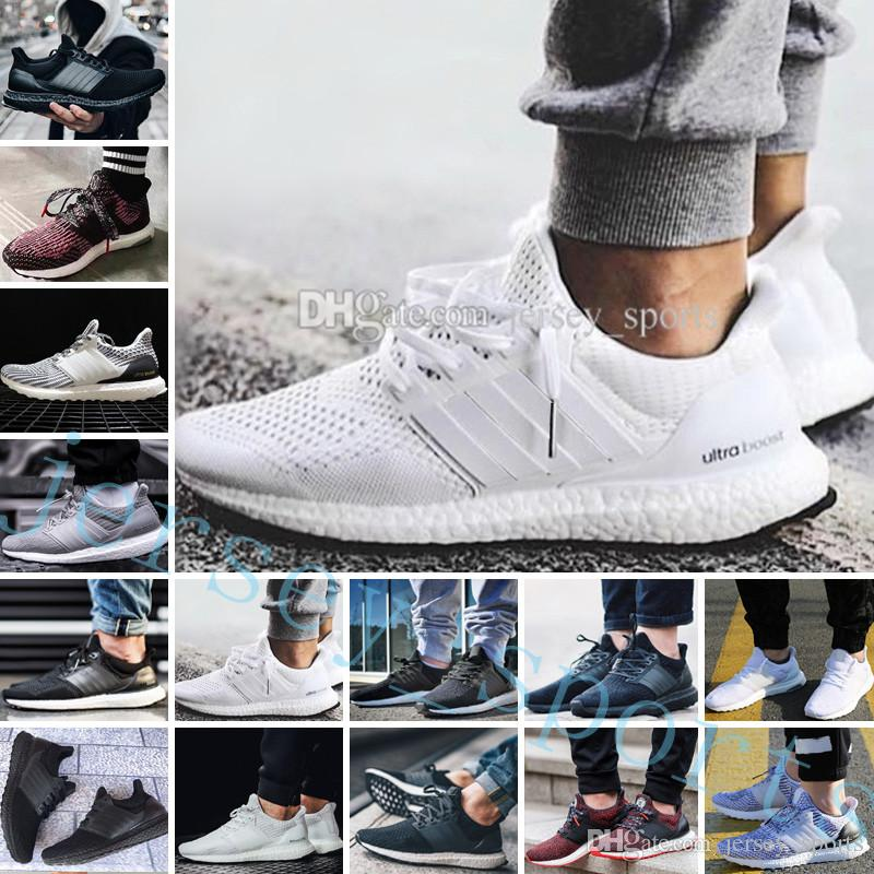 fe542be405684 2019 Ultra Boost 2.0 3.0 4.0 UltraBoost Mens Running Shoes Sneakers Womens  Designer Sports UB CNY Dog Snowflake Core Triple Black All White Grey From  ...