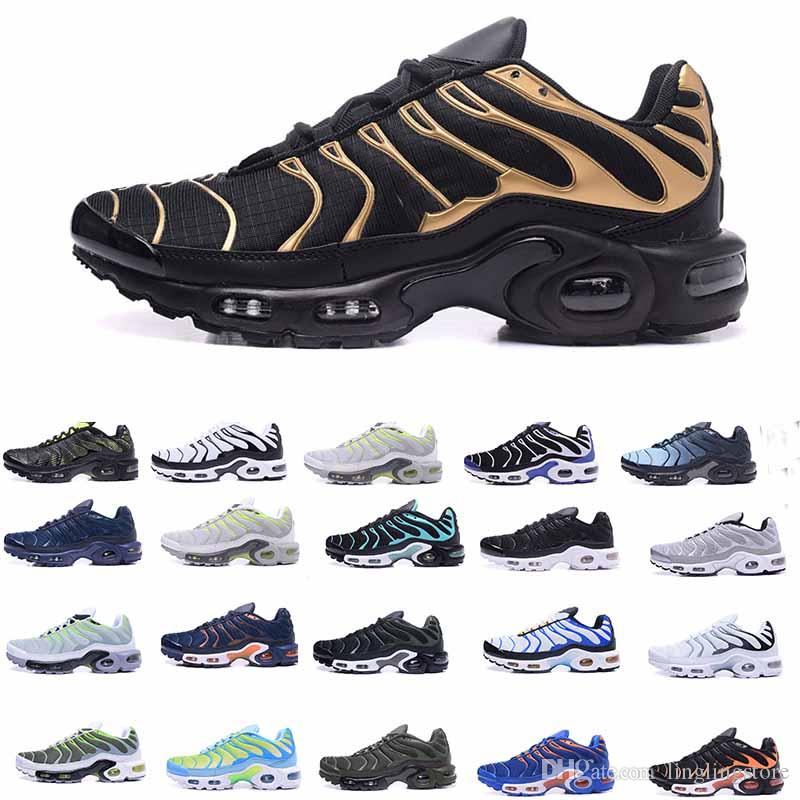 88310d8290e3 2019 2018 New Running Shoes Men TN Shoes Tns Plus Air Fashion Increased  Ventilation Casual Trainers Olive Red Blue Black Sneakers Chausseures From  ...