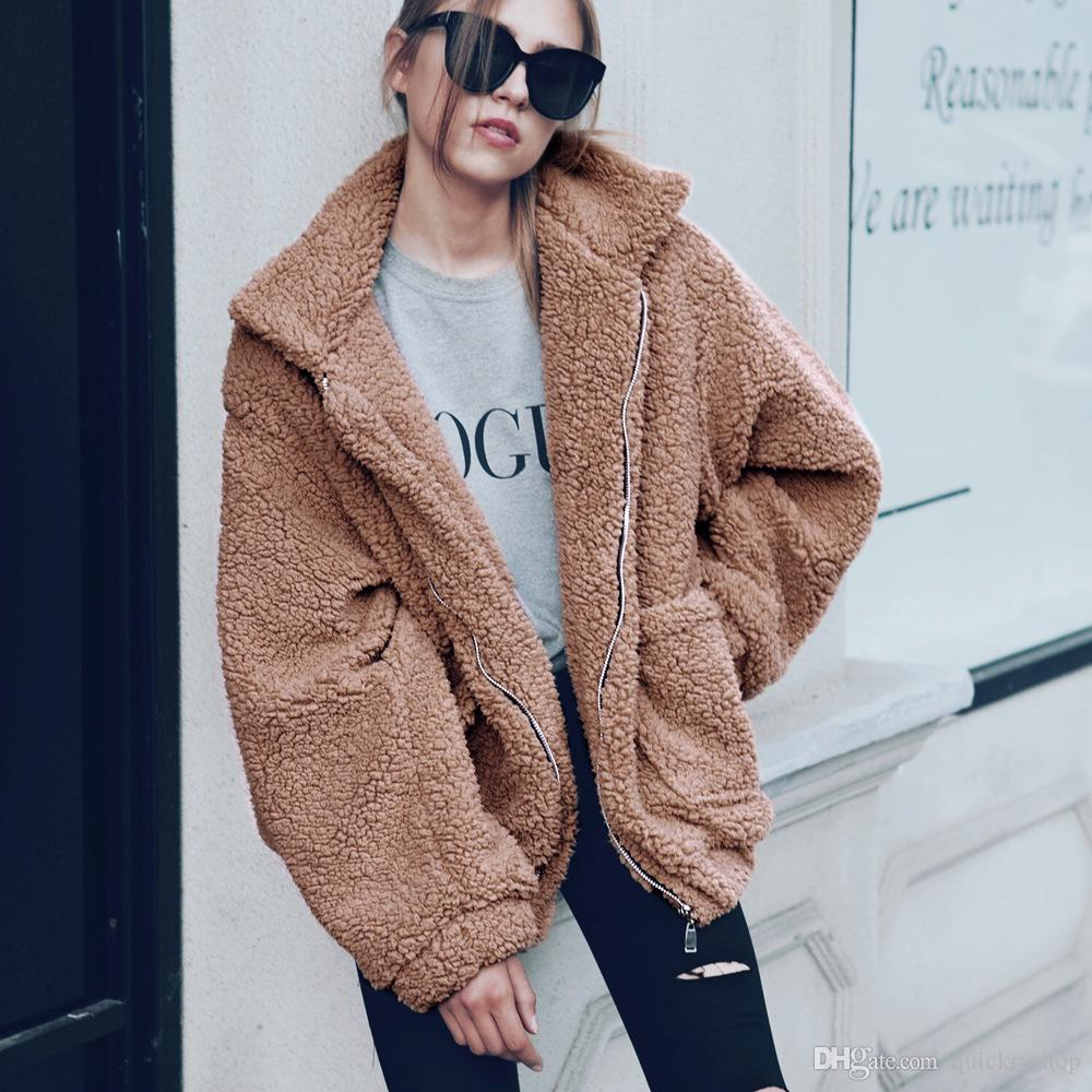 Hot Sale Women Winter Warm faux fur coat Long Sleeve Outwear Lady Short Style Fur Jacket Brand 9 Colors Clothing