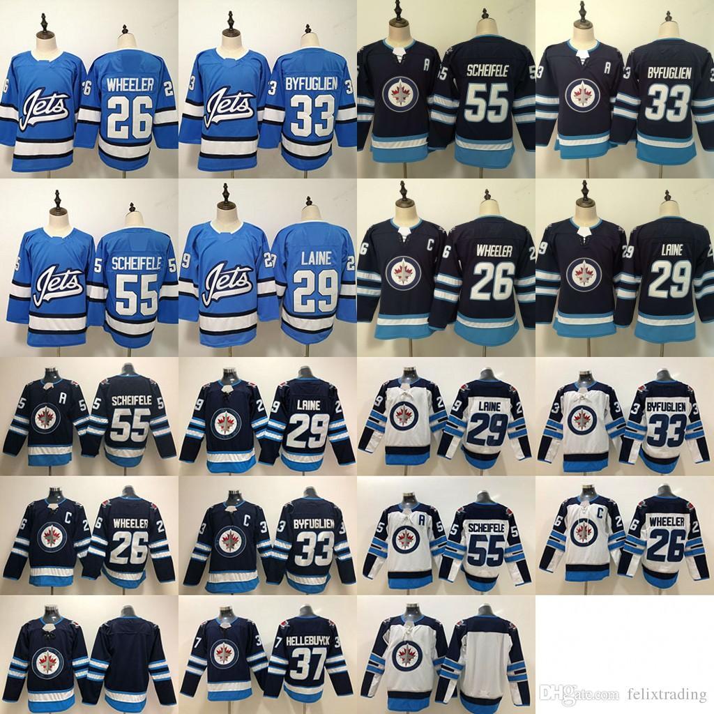 0360a9b072b 2019 2019 Winnipeg Jets Men Women Youth 29 Patrik Laine Jersey 37 Connor  Hellebuyck Mark Scheifele Blake Wheeler Dustin Byfuglien Hockey Jerseys  From ...