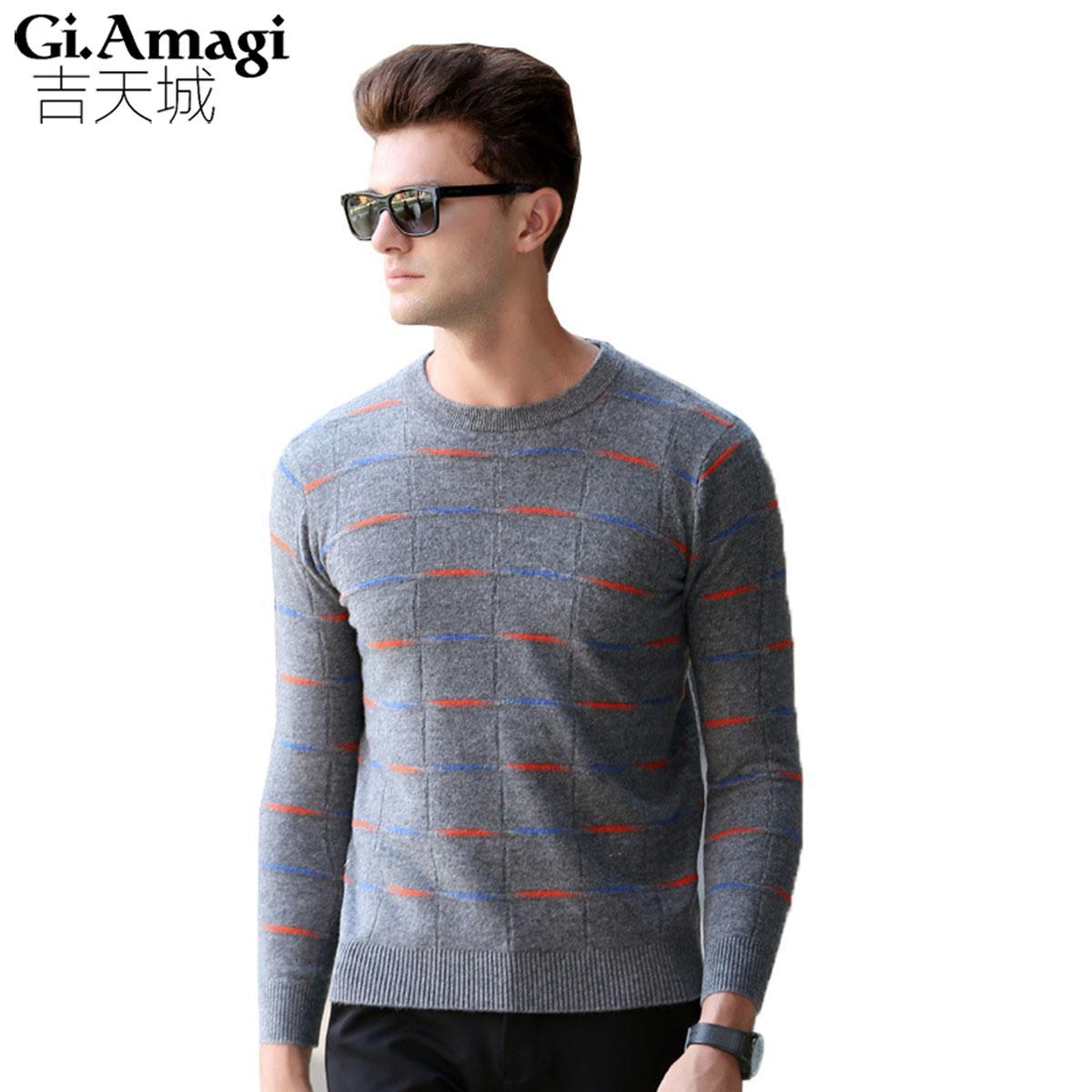 Fashion Classic Strip Color O-neck Sweater Men Winter Warm Pullover Men  Slim Fit Cashmere Woolen Sweaters Fashion Sweaters Men Sweater Men Sweater  Fashion ... 240856cf55