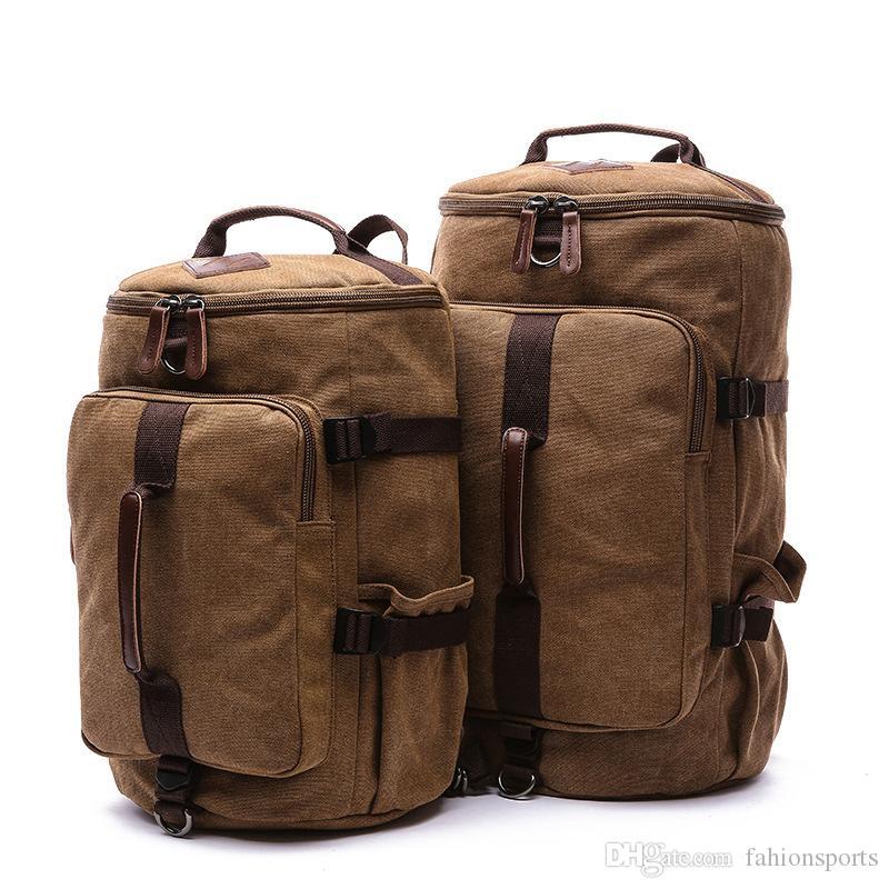 8f4dae6877430 Compre Bolso De Viaje De Alta Capacidad Para Hombres Paquete De Cilindro De  Parejas De Nueva Llegada Multifuncional Mochila De Moda Masculina Rusksack  A ...