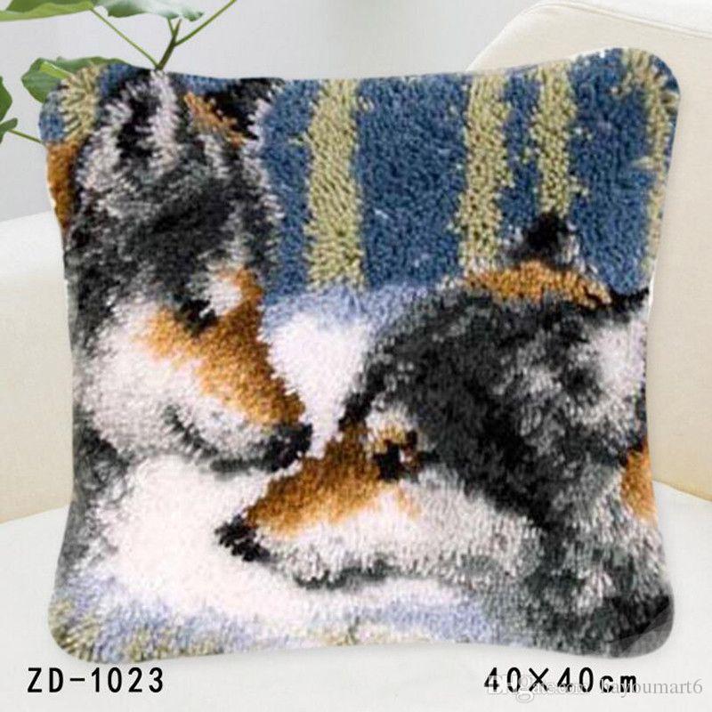 2019 Latch Hook Rug Kits Diy Needlework Unfinished Crocheting Rug