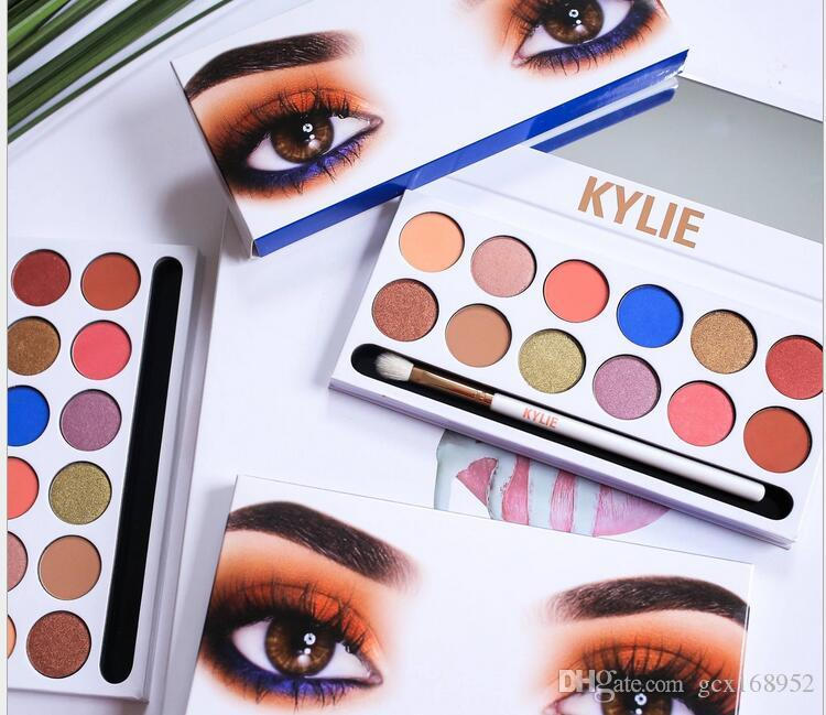 99A kylie' Beauty shadow palette eyeshadow copy 12 colors Shimmer Matte Eye shadow Pro Eyes TEXTURED STURED SHADOWS PALETTE Makeup Cosmetics