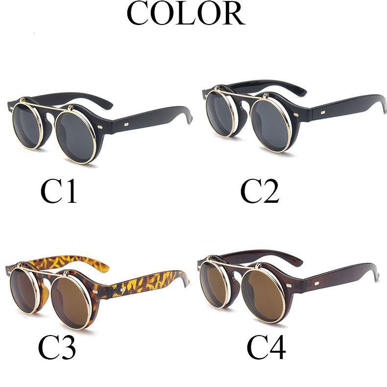 NEUE mode Runde sonnenbrille frauen Designer Sonnenbrille steam punk Metal de sol frauen BESCHICHTUNG SONNENBRILLEN Männer Retro CIRCLE SUN BRILLES