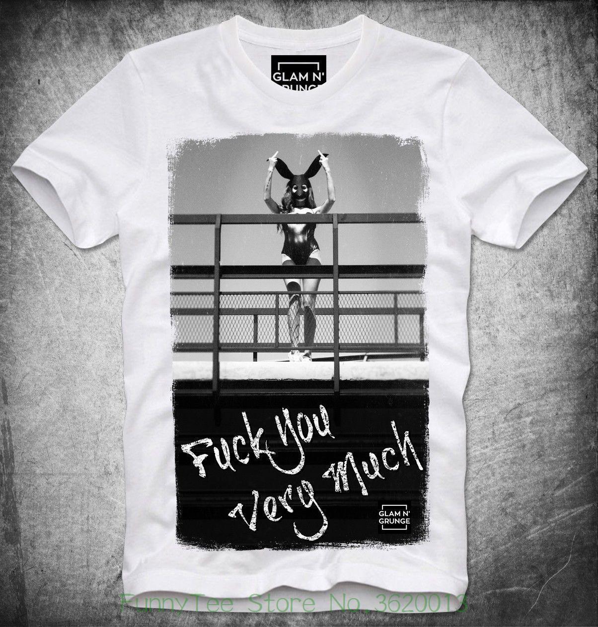 04754a714 Compre Glam N Grunge Camiseta Sexy Girl Fuck You Muito Coelho Mittelfinger  Dedo Hba De Aaa888teesstore, $19.03 | Pt.Dhgate.Com