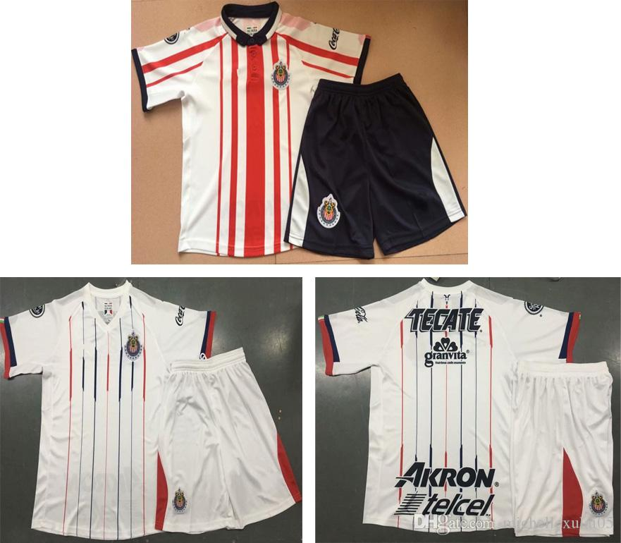cee908a419d 2019 2018 Chivas Home Soccer Sets Adult'S Thai Quality Football Kits 18 19  Short Sleeve Chivas Away White Sports Suits Outdoor Jerseys Uniforms From  ...