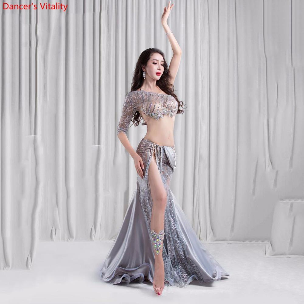 bc68d41bd077 2019 2018 New Luxury Belly Dance Dress Costume Women Stage ...