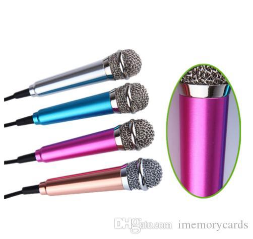 2018 Hot Mini 3.5mm Studio Lavalier Microfono professionale Microfono tenuto in mano Karaoke Vuole cantare