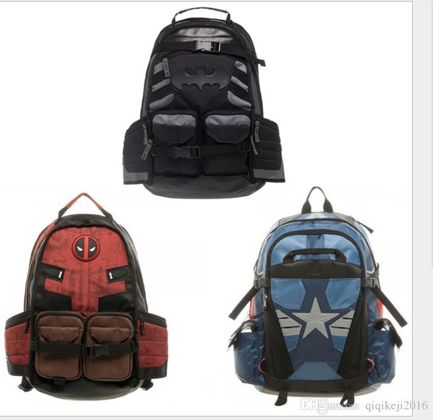 Hot Sale Avengers Batman Backpack Designer Knapsack Journey Packsack ... 94353b5666