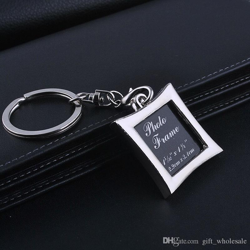 Foto-Rahmen-runde Herz-Apple-ovale Raute-Form-Metalllegierung Keychain-Schlüsselring-Schlüsselring-Auto-Schlüsselring-Paare Schlüsselring-Geschäfts-Geschenk