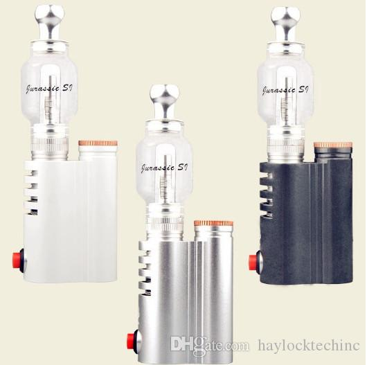 Jurassic S1 Water Glass Atomizer Herb Vaporizers Elecronic Cigarette CHAMBER CERAMIC COIL Starter Kit For Herbal Vape pen