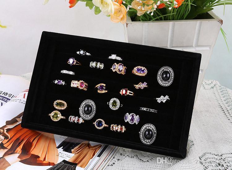 new fashion Velvet Earrings Ring Organizer Earring Jewelry Display Stand jewelry Holder Rack Showcase