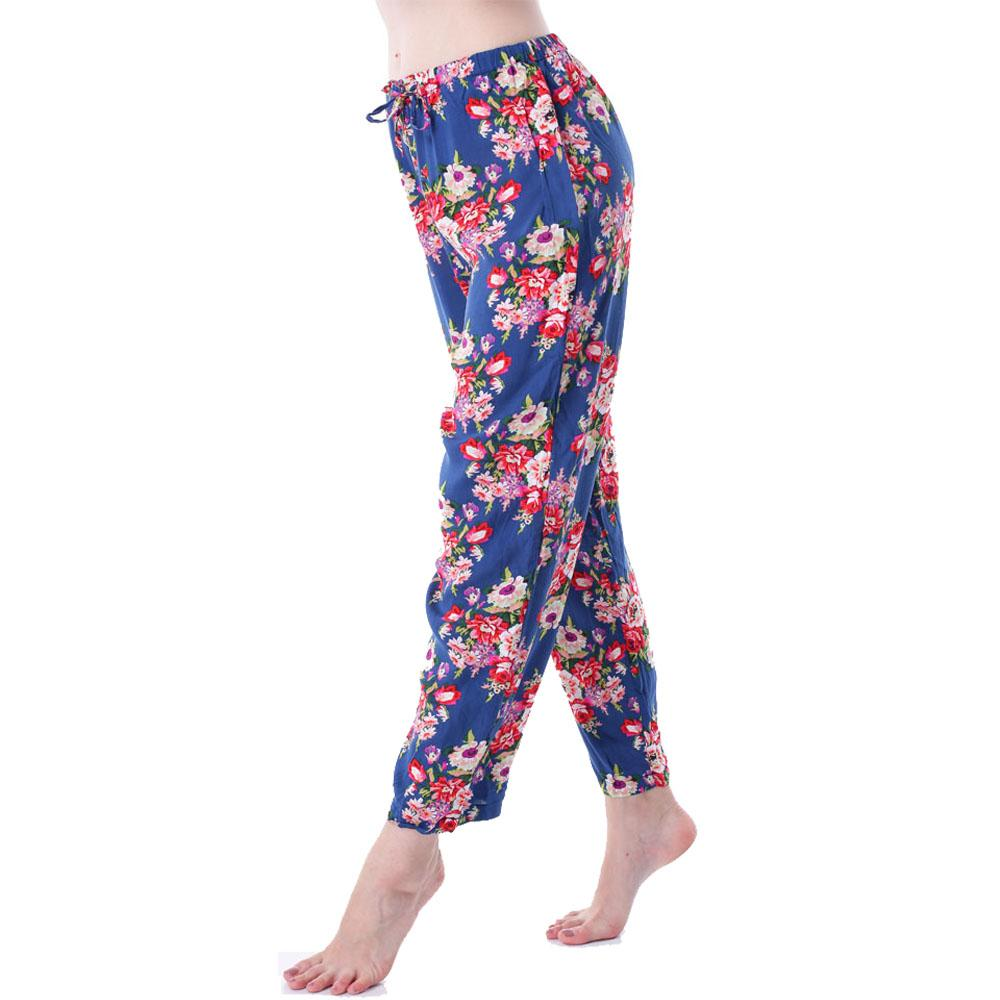 2019 Long Pants For Women Sleepwear Bathrobe Bride Bridesmaid Pant Cotton Flower  Pajamas Homewear Lady Fashion Printed Nightgowns Set From Missher 55ca6b363