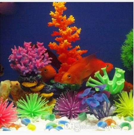 2019 Silicone Aquarium Fish Tank Artificial Coral Plant Underwater