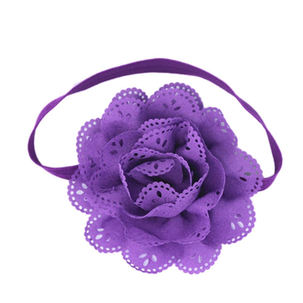 Cute Newborn Baby Girls Flower Headbands Photography Props Infant