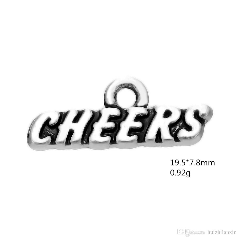 European American Style Letter Pendant Jewelry CHEERS Metal Alloy Charms Dangle For DIY Jewelry