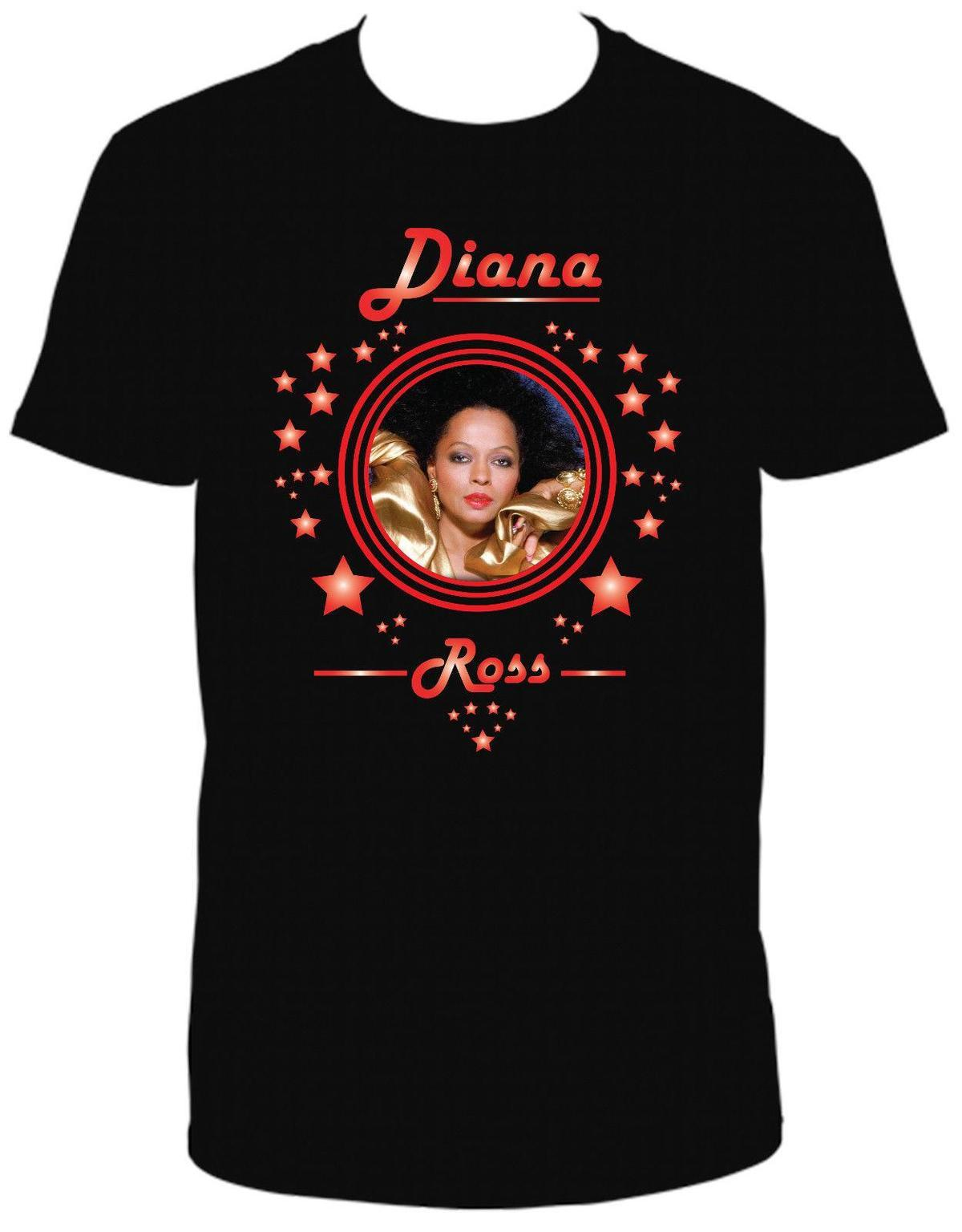 pretty cheap shoes for cheap hot sale online DIANA ROSS BLACK CREW NECK SHORT SLEEVE TSHIRT